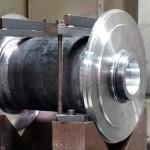 Steel line shaft spacer (horizontal cnc machining boring) for Mining Australia